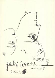 Pablo Picasso - Face of a Man (Detail 2) - 1959