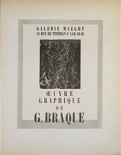 """Georges Braque - Galerie Maeght - 1959 Lithograph 12.5"""""""