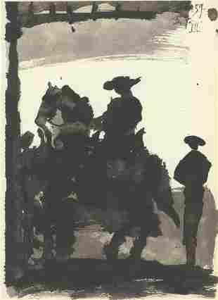 "Pablo Picasso - Toros II - 1959 Lithograph 14.5"" x"
