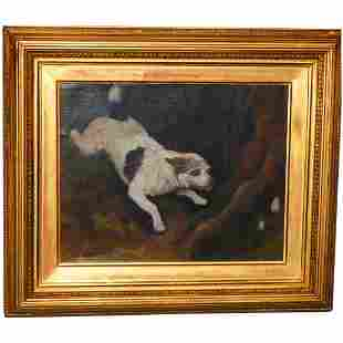 19th Century Study of a Dog in a Landscape