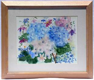 Watercolor of Flowers by Dianne Smith