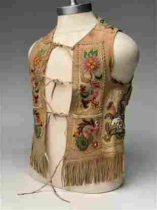 Buckskin Vest with Beaded Decoration
