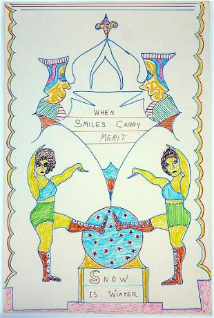 """""""When Smiles Carry Merit"""" by Outsider Lewis Smi"""