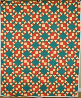 Unusual Solid Color Wedding Ring Quilt