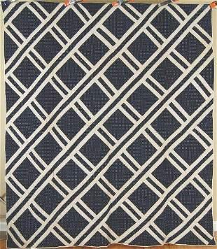1880's Indigo Blue & White Ladder Quilt