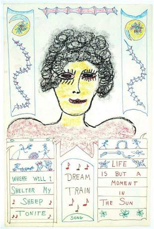 2-sided drawing by Lewis Smith Outsider Artist