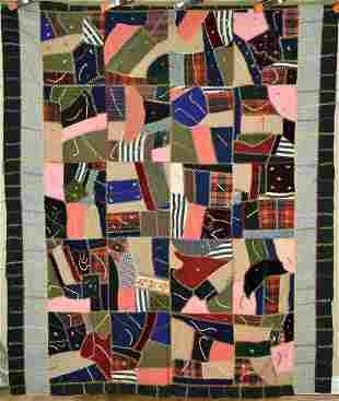 Wool 1890's Crazy Quilt