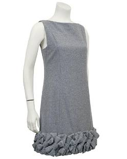 Alexis Mabille Demi Couture Grey Wool Dress