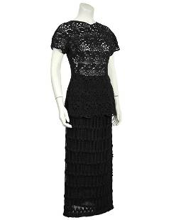 Anonymous Anonymous Black Guipure Lace Skirt and Top