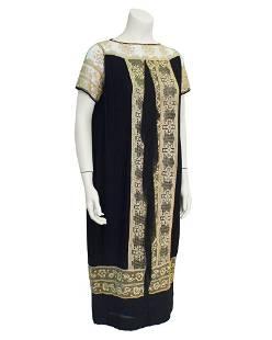Anonymous Anonymous Black Micro Pleat Flapper Dress