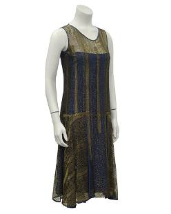 Anonymous Anonymous Gold and Navy Lace Art Deco Flapper