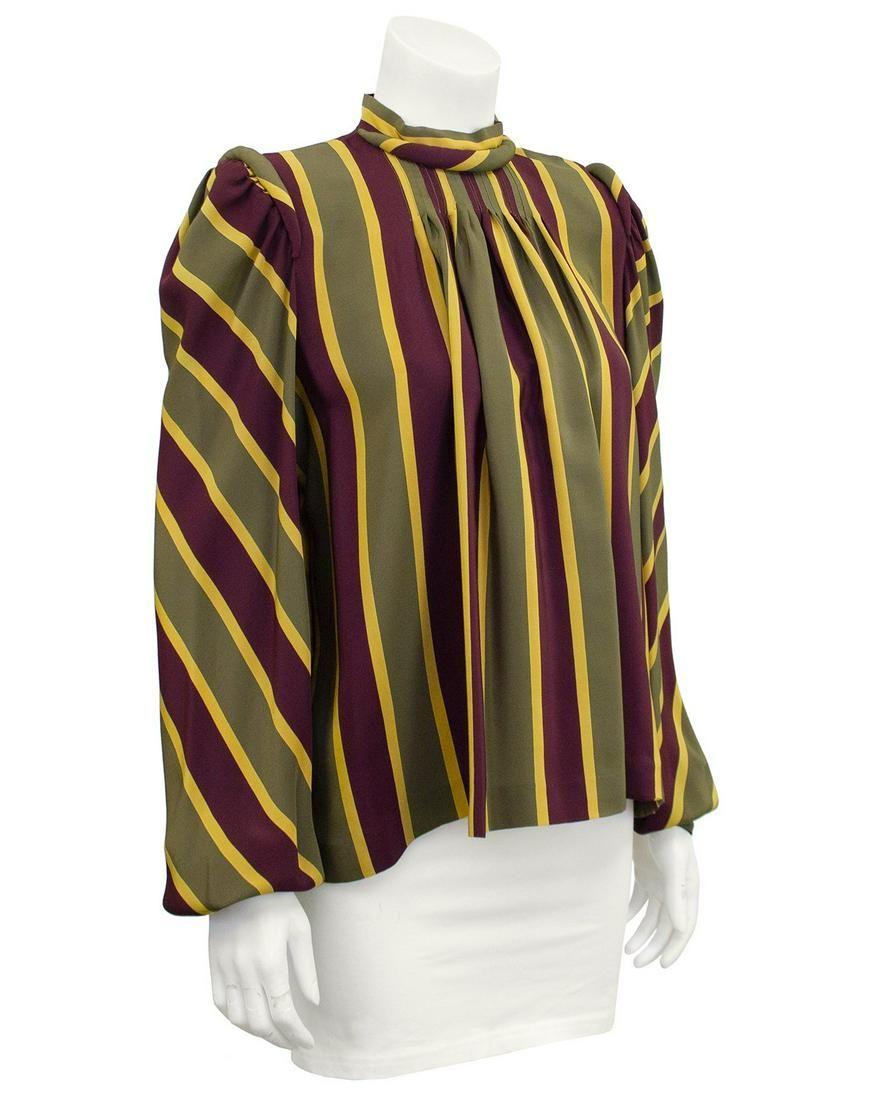 Anonymous Anonymous Stripe Silk Blouse