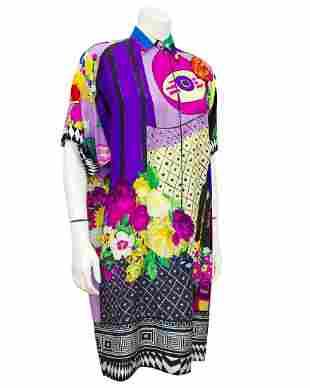 Versace Multi Colour Silk Shirt Dress