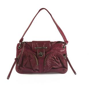 Botkier Burgundy Leather Flap Top Closure Small