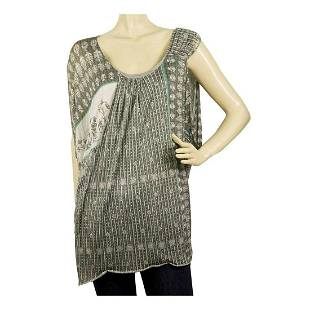 Yigal Azrouel Gray Floral One Shoulder Oversize Long
