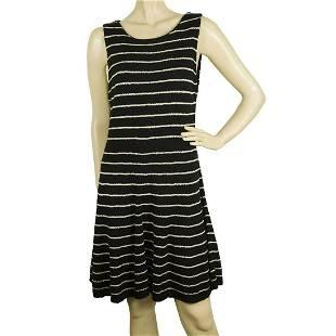 Alice + Olivia Black w. white Stripes Cotton Wool