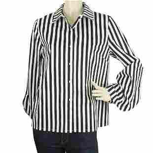 Citron & Miel Black & White Striped Button Down Wide