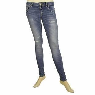 Dondup Blue Lambda Denim Jeans Distressed Trousers