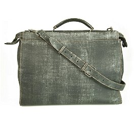 Fendi Peekaboo Gray Burnished Leather Tote Extra Large
