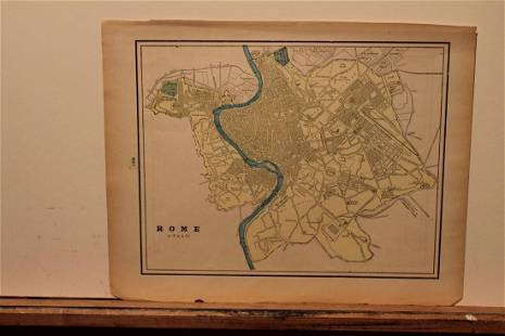 1892 Rome Map