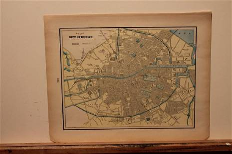 1892 Dublin Map