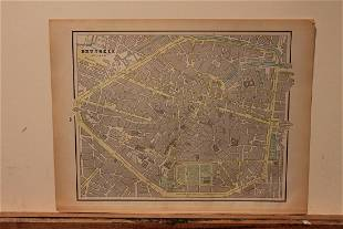 1890 Brussels Map