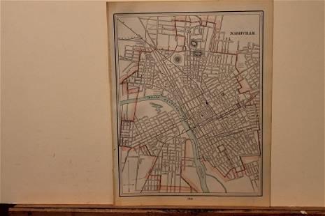 1893 Nashville Map