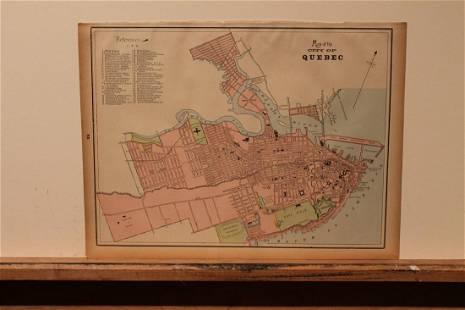1883 Quebec City Map