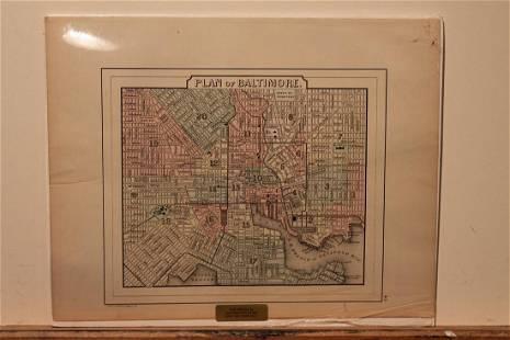 1857 Baltimore Map