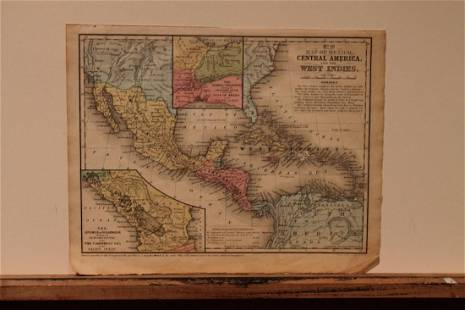 1852 Central America Map
