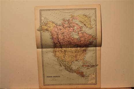 1873 North America Map
