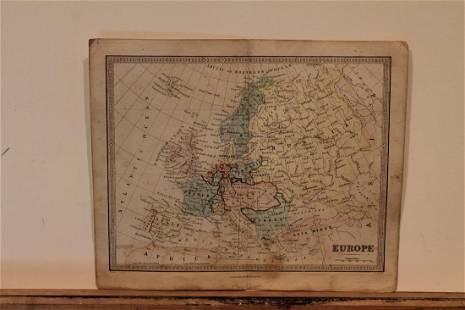 1860 Europe Map