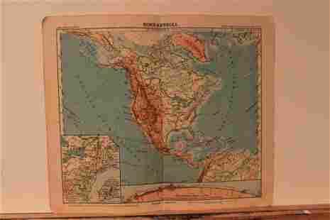 1913 North America Map
