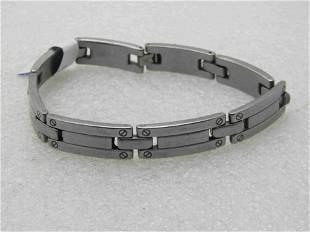 """Men's Stainless Steel Linked Bracelet, 8.75"""""""