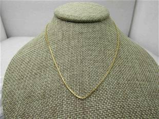 "Vintage Gold Tone 16"" Herringbone Chain/Necklace,"
