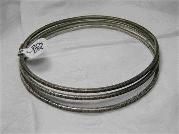 Vintage Sterling Stacking Bangle Bracelets, Greek Key,