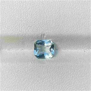 Natural Unheated Blue Aquamarine 1.12 Cts VVS Octagon
