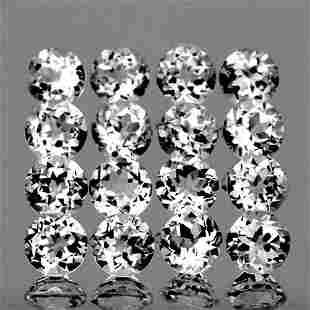 2.60 mm Round 35 Pieces Natural Diamond White Topaz