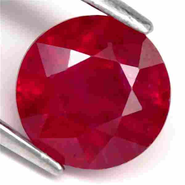 1,92 cts Natural Round Blood Red Ruby
