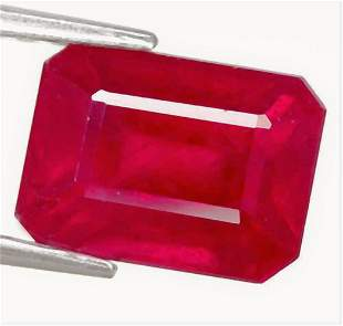 1,47 cts Natural Octagon Red ruby
