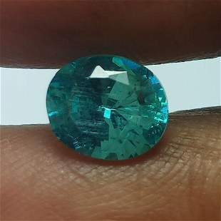 1.55 CTS NATURAL APATITE OVAL SHAPE GOOD COLOR LOOSE