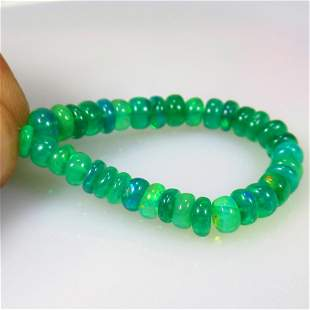 17.14 Ct Natural 35 Drilled Green Fire Opal Beads