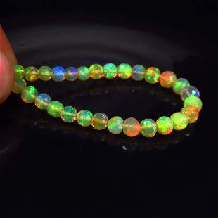 12.00 Ct Natural 28 Drilled Faceted Fire Opal Beads