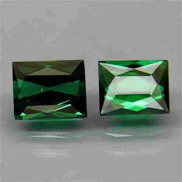 pair! natural green tourmaline-1,51 ct 1,2
