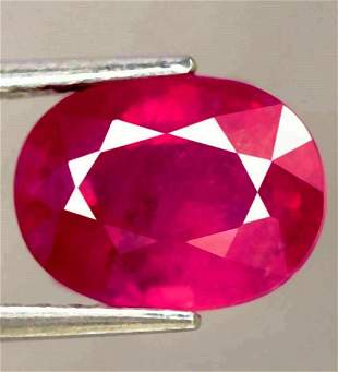 2,57 cts Natural Oval Red Ruby