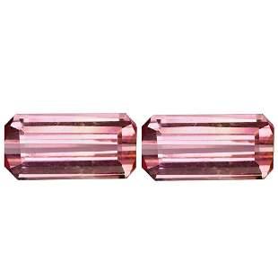4.40 ct natural pink tourmaline pair