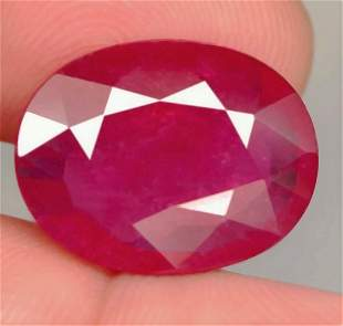 2,89 cts Natural Oval Blood Red Ruby