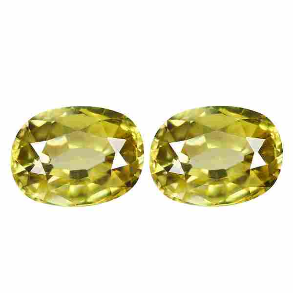 2.60Ct Sizzling Oval cut 6 X 5 mm AAA Natural Yellow