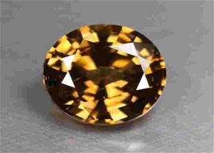 2.42 Ct. Natural Unheated Imperial Brown Zircon Sri