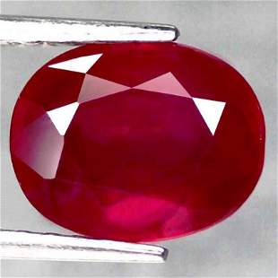 2,92 cts Natural Oval Blood Red Ruby